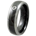 Tungsten Ceramic Band with diamond TCRD-3056M