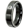 Tungsten Ceramic Band with diamond TCRD-3058M