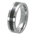 Tungsten Carbon Fiber band TFR-3059-BLK