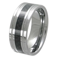 Tungsten Carbon Fiber band TFR-3075-BLK