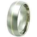 Titanium Band with gold TG-3038