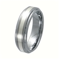 Tungsten Band with silver inlay TNS-3058M