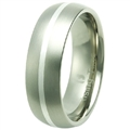 Titanium Band with silver inlay TS-3038