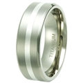 Titanium Band with silver inlay TS-3042
